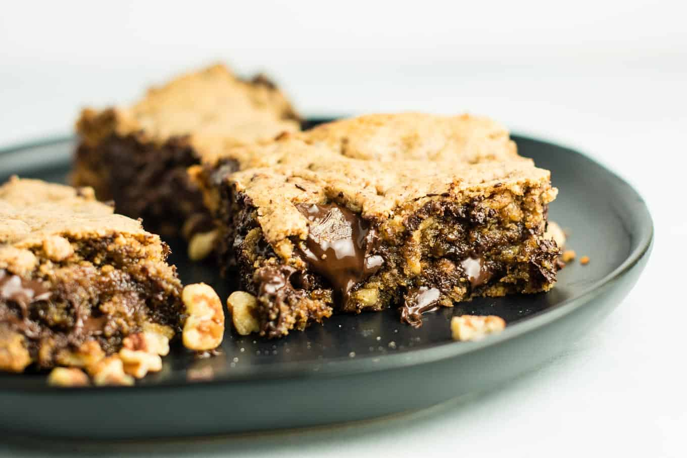 gluten free dessert recipes - (Death by Chocolate) Dark Chocolate Pecan Cookie Bars recipe – gluten free and dairy free. You won't believe how good these are! Serve warm with a scoop of vanilla ice cream! #glutenfree #dairyfree #cookiebars #dessert #chocolate