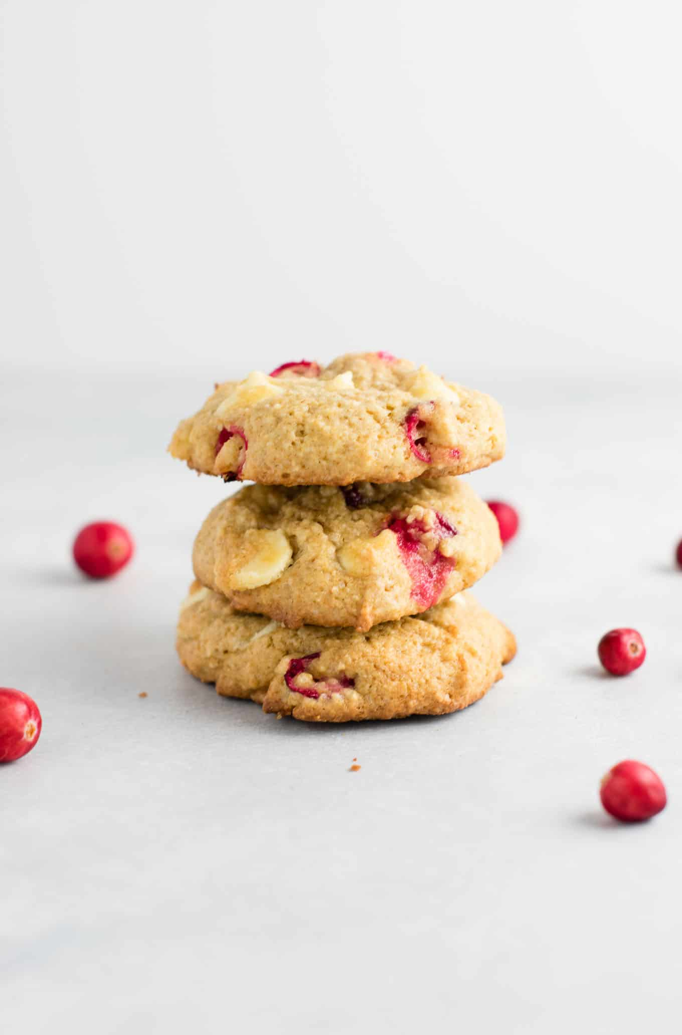 Cranberry White Chocolate Chip Cookies With Fresh Cranberries