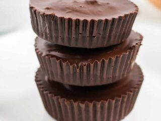 stacked peanut butter cups