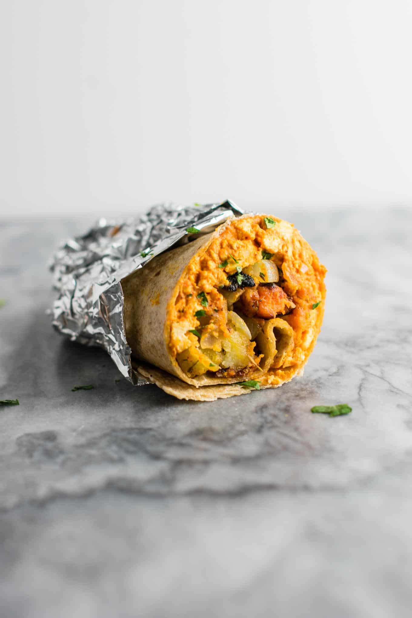 Tvegan breakfast burrito