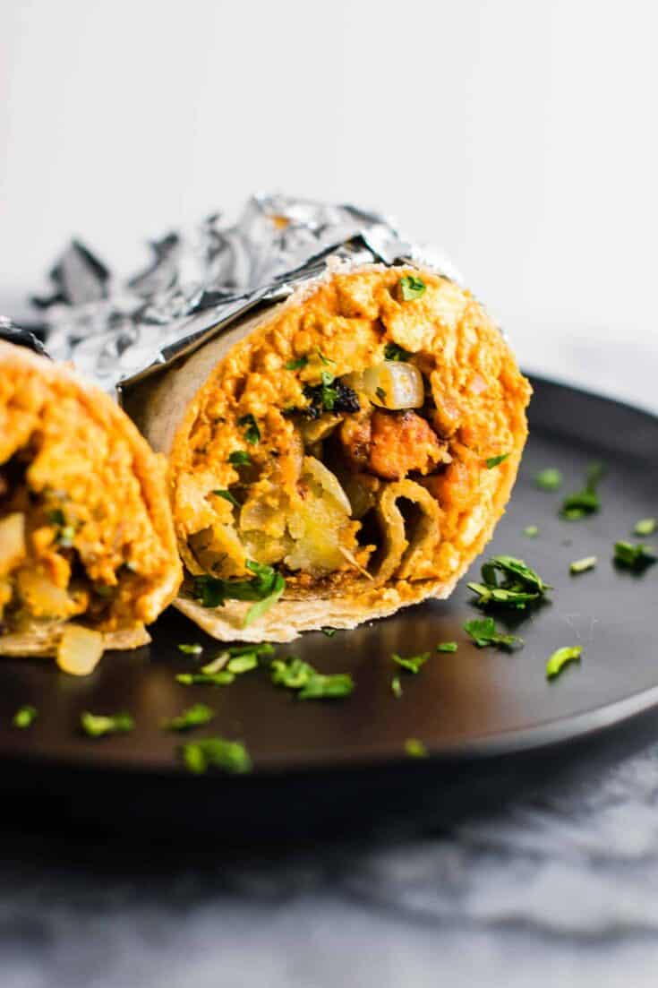 The Best Vegan Breakfast Burrito