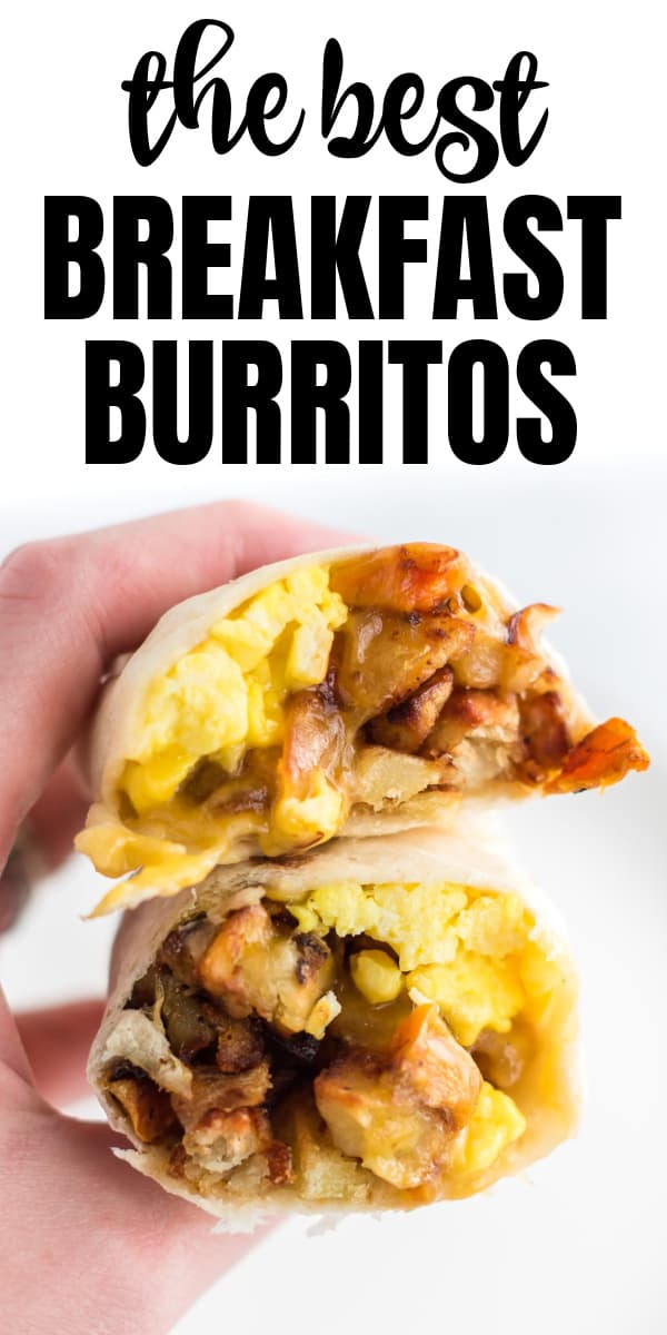 "image with text ""the best breakfast burritos"""