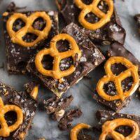Vegan Chocolate Sea Salt Pretzel Bark