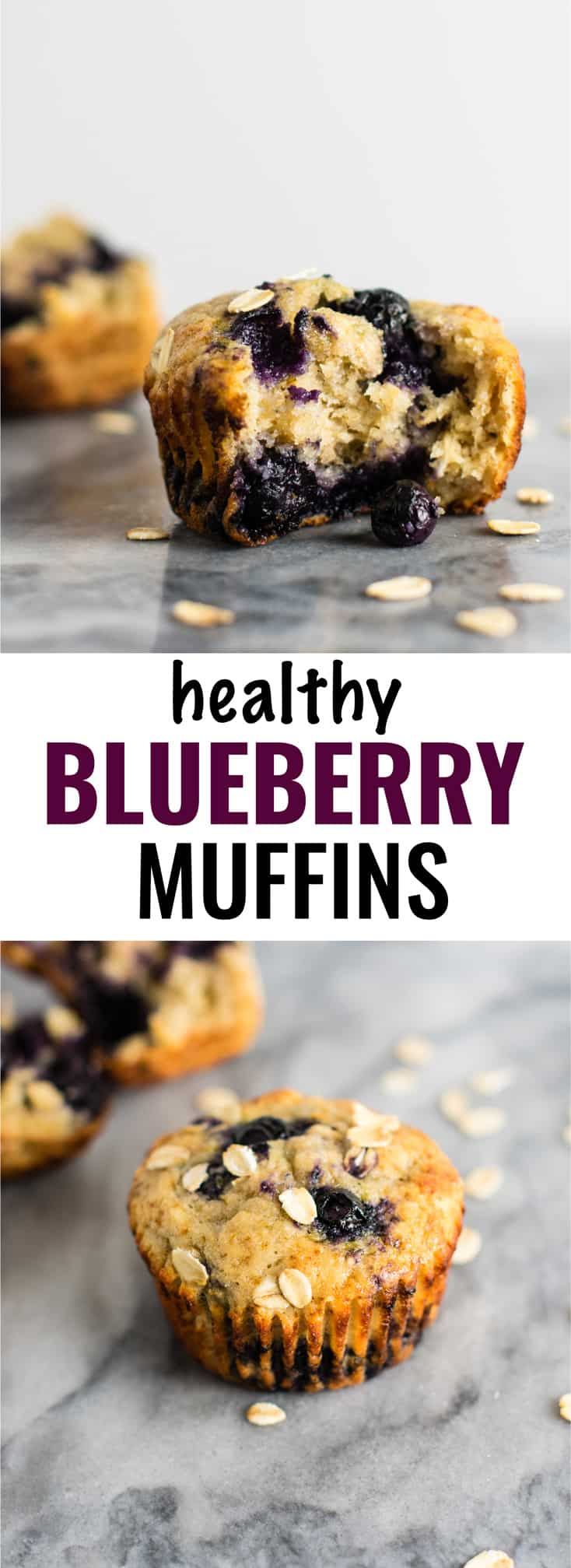 Healthy Blueberry Muffins Recipe - with greek yogurt