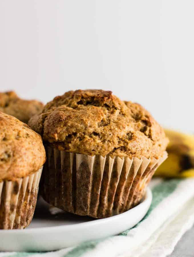 Whole Wheat Banana Bread Muffins