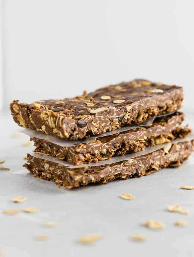 Chocolate Cashew Protein Bars