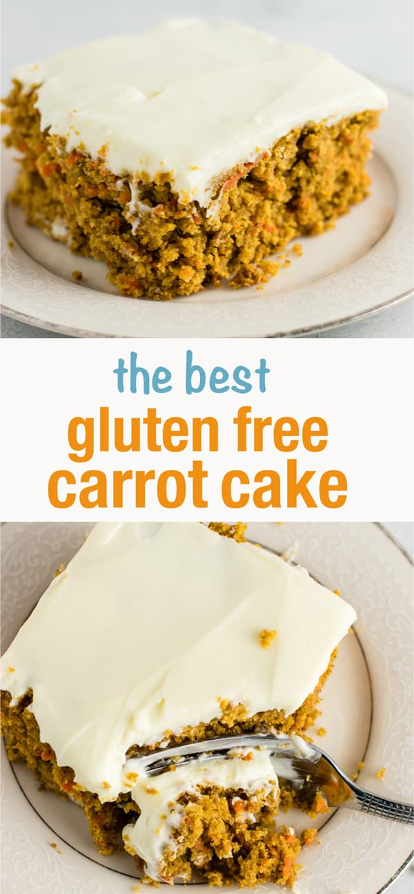 The BEST and easiest gluten free carrot cake I have ever tasted! The other reviewers were right - I can't believe how good it is and it does NOT taste gluten free! #glutenfree #carrotcake #dessert