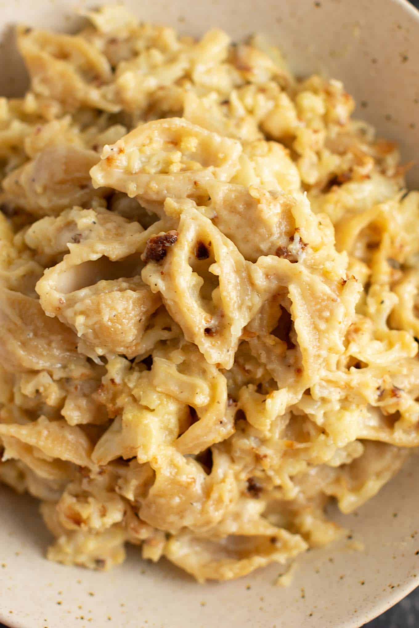 roasted cauliflower mac and cheese - this was amazing! #cauliflower #dinner #meatless