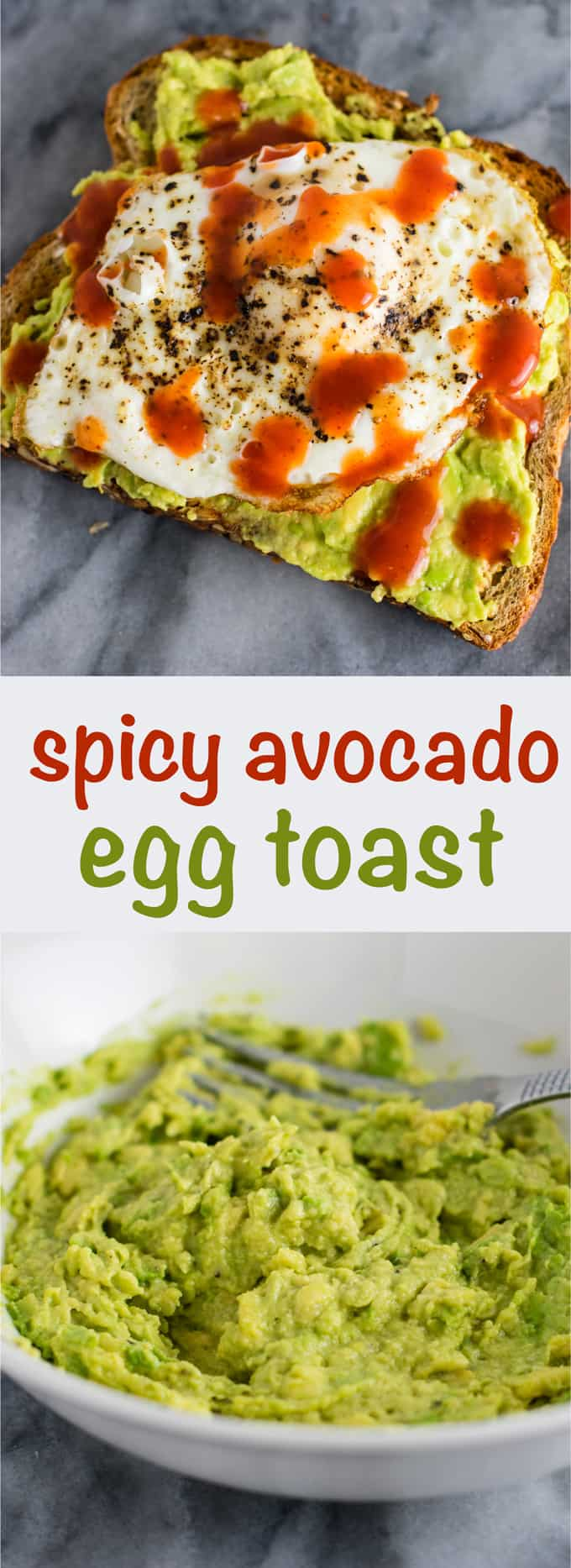 Spicy Avocado Egg Toast - really easy but so delicious. I make this all the time! #breakfast #avocadotoast #eggs #vegetarian #meatless
