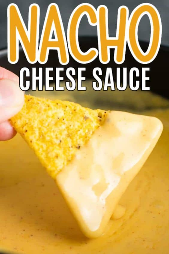 "image with text ""nacho cheese sauce"""