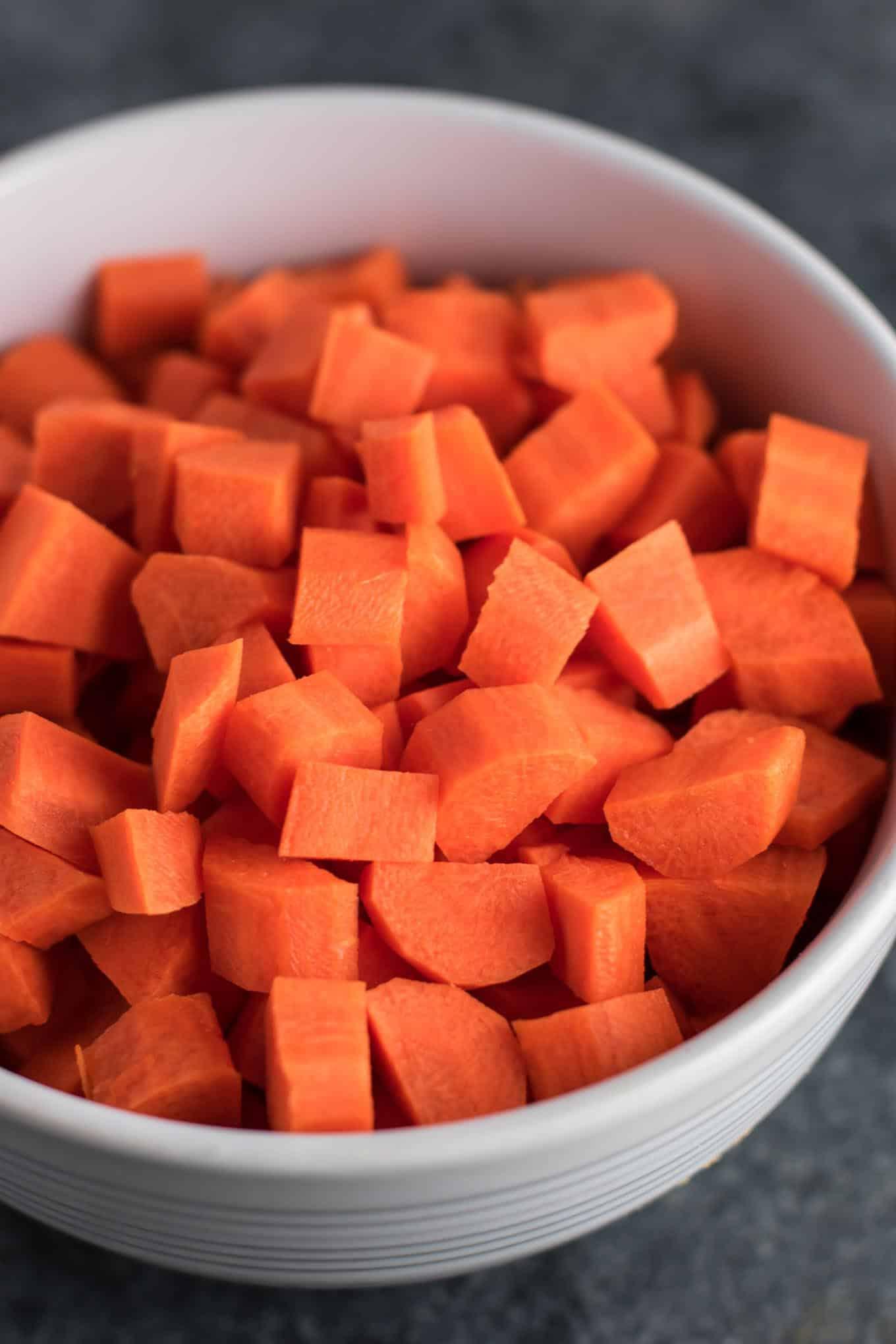 diced carrots