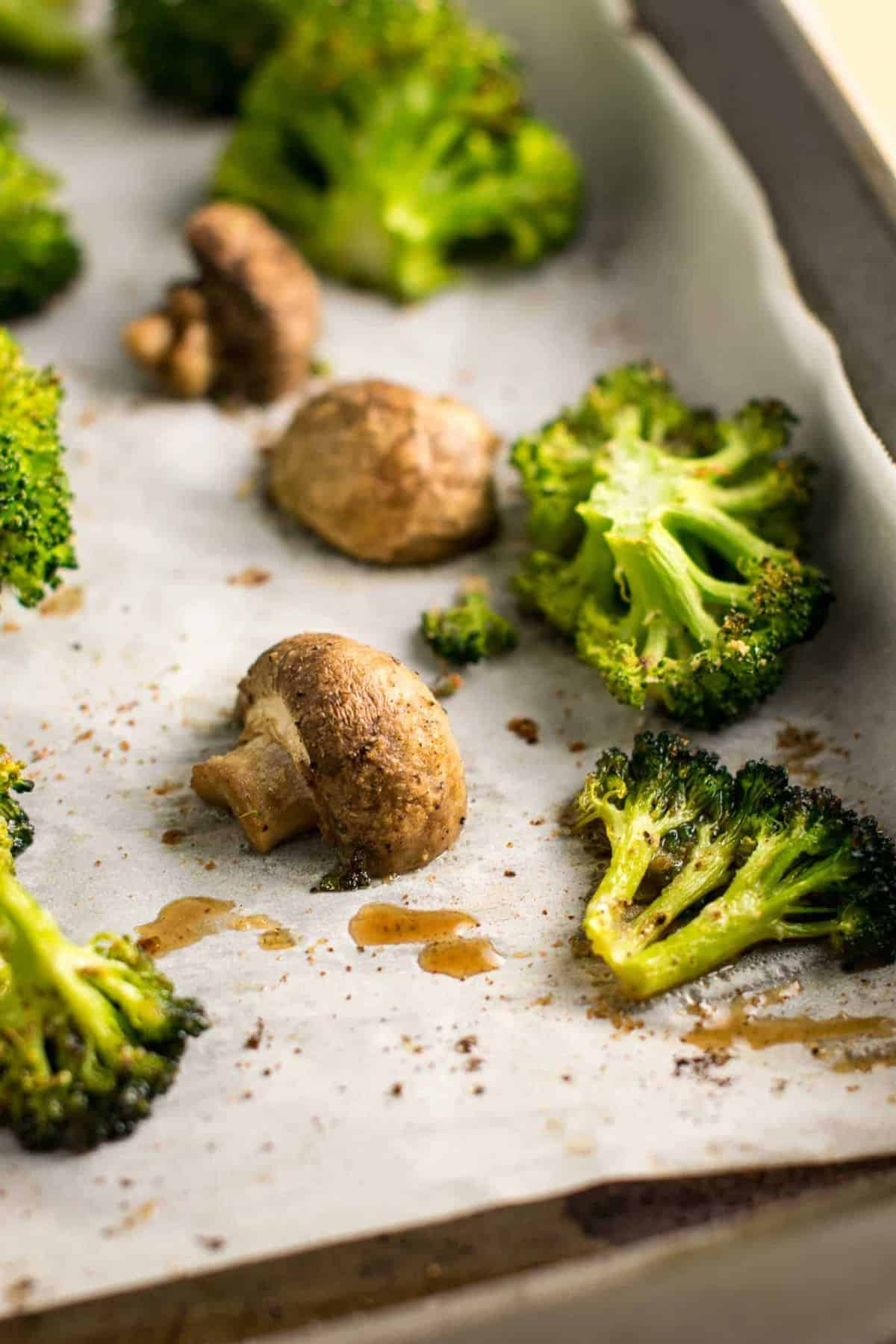 Roasted Broccoli And Mushrooms Recipe Build Your Bite