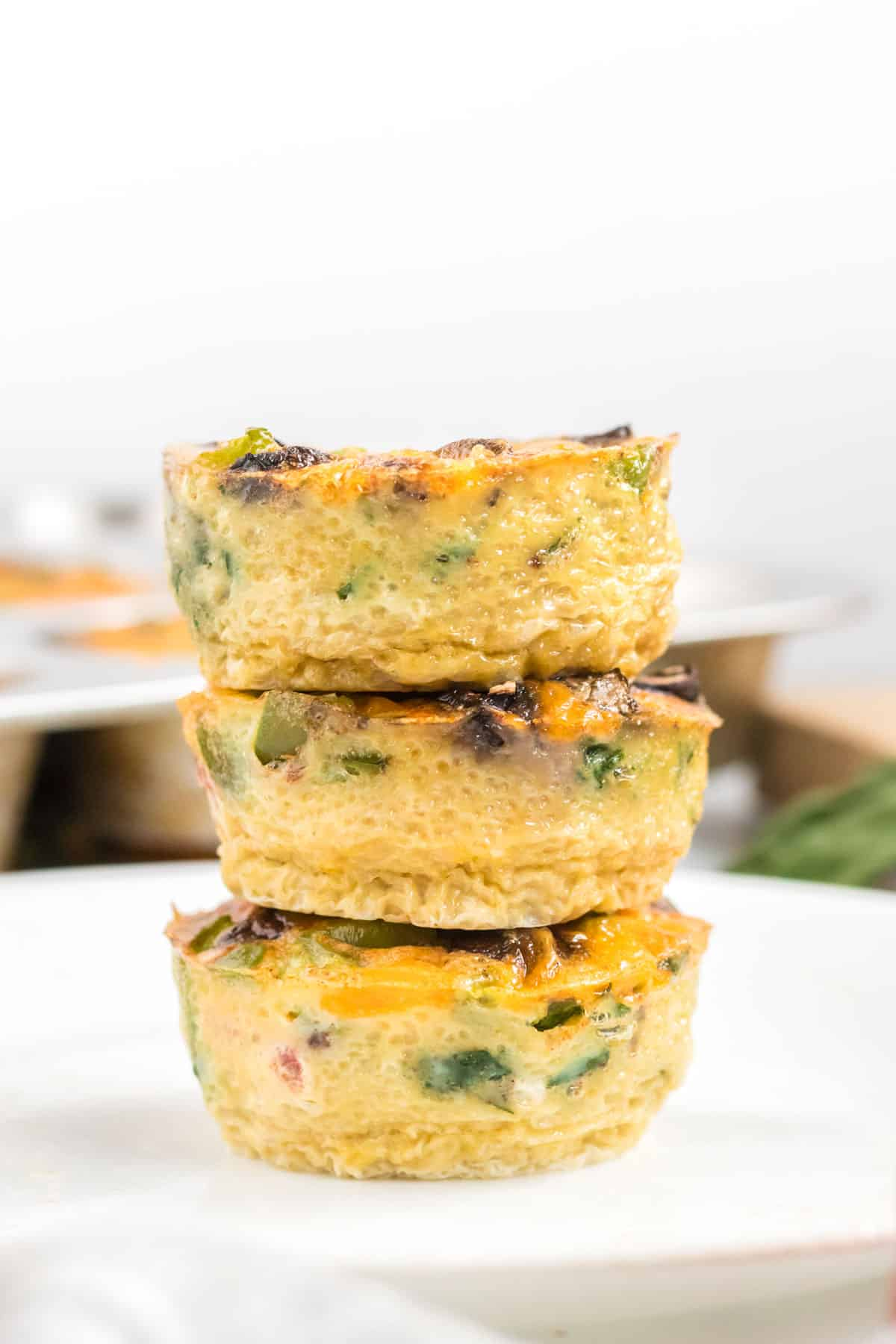 stacked egg muffins