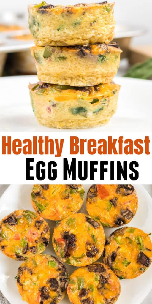 """image with text """"healthy breakfast egg muffins"""""""
