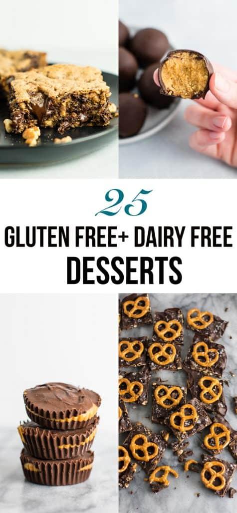 25 gluten free dairy free desserts - so many good ones in here! #glutenfree #dairyfree #desserts #dessertrecipe #healthydessert #healthy #glutenfreedessert #dairyfreedessert