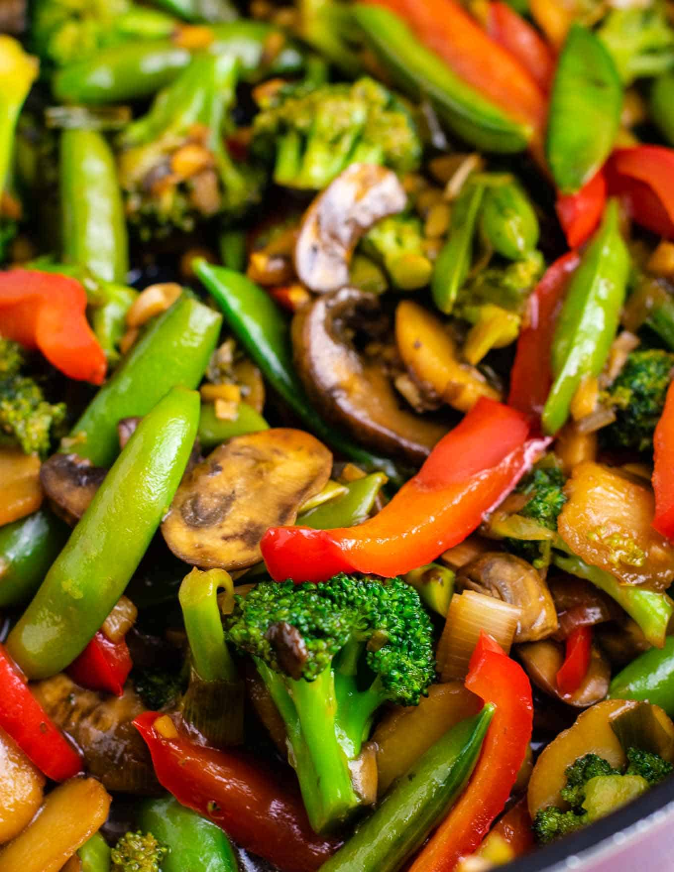 Stir fry vegetables recipe – with homemade stir fry sauce.