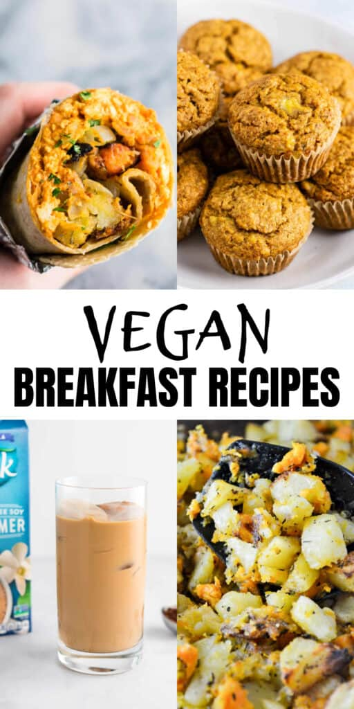 """image with text """"vegan breakfast recipes"""""""