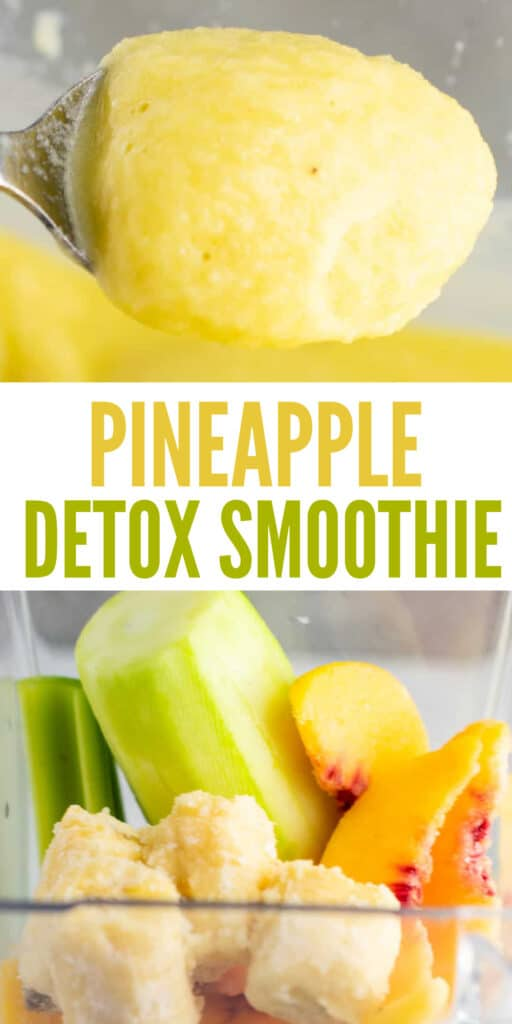 """image with text """"pineapple detox smoothie"""""""