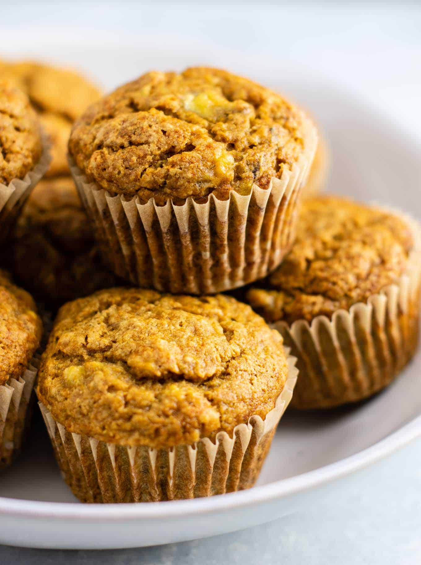 vegan muffins with mashed banana