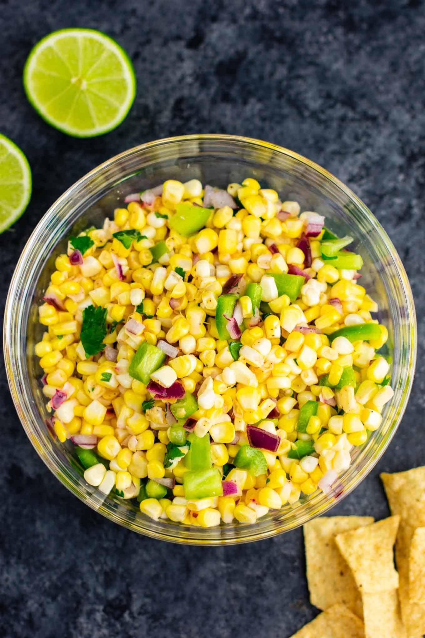 Fresh Corn Salsa Recipe Build Your Bite