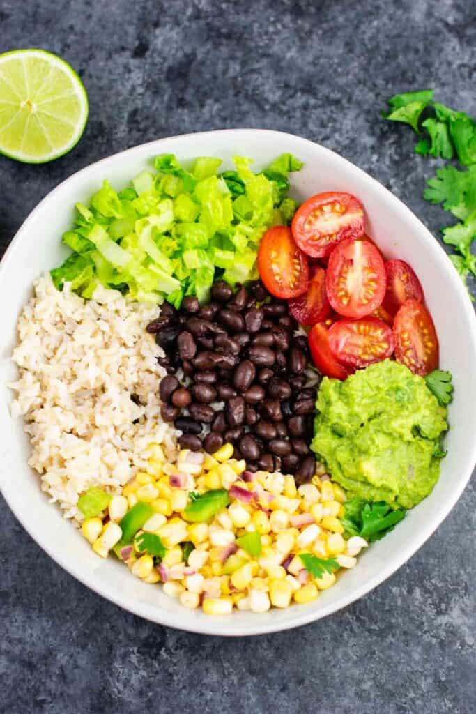 Vegan Burrito Bowl Recipe Build Your Bite