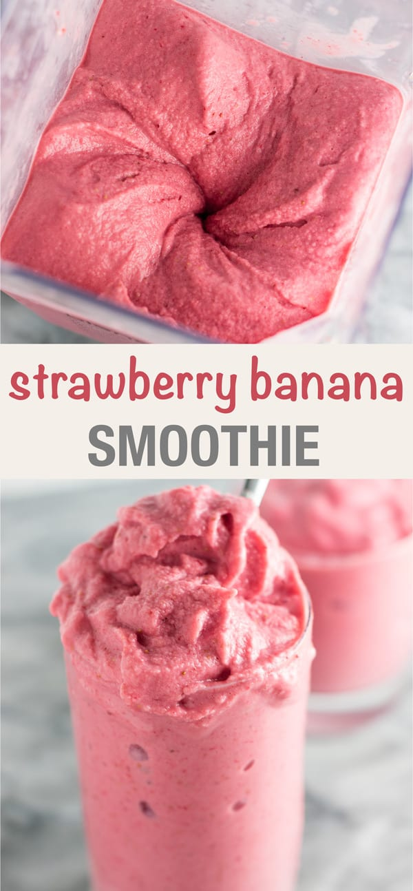 strawberry and banana smoothie with milk
