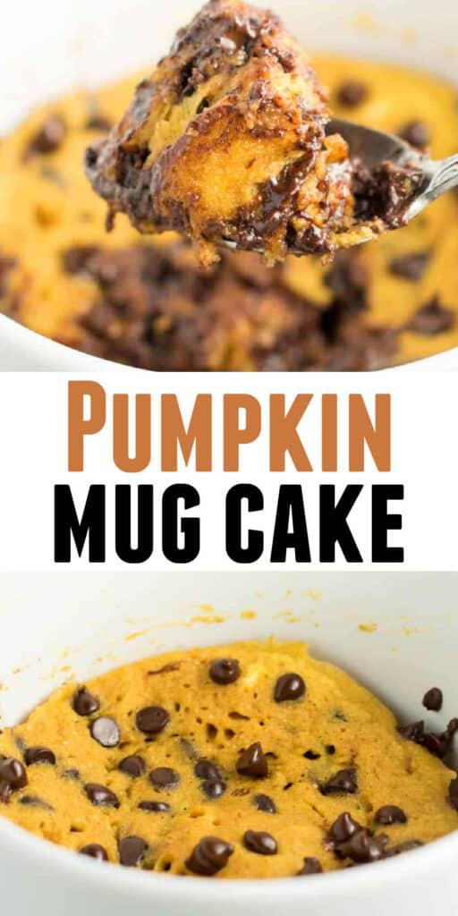 "image with text ""pumpkin mug cake"""