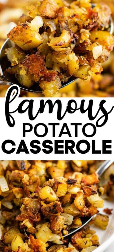 "image with text ""famous potato casserole"""