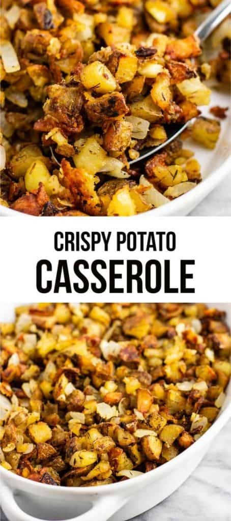 "image with text ""crispy potato casserole"""