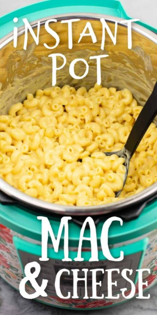 """image with text """"instant pot mac & cheese"""""""