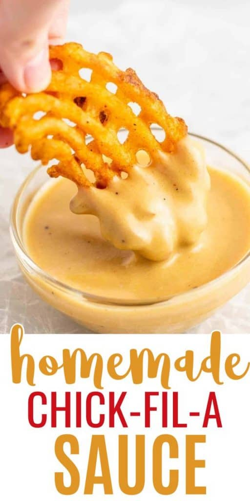 "image with text ""homemade chick-fil-a sauce"""