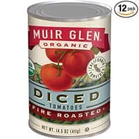 Muir Glen Canned Tomatoes, Organic Diced Tomates, Fire Roasted