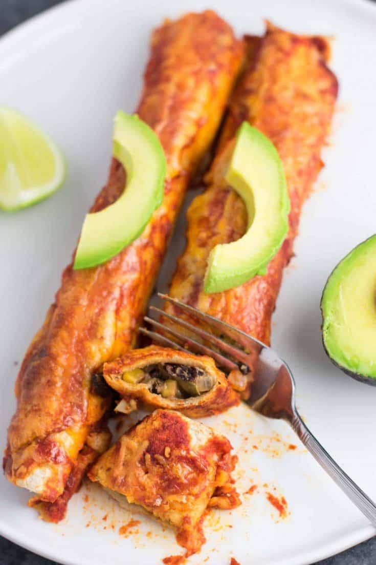 The Best Ever Vegetarian Enchiladas