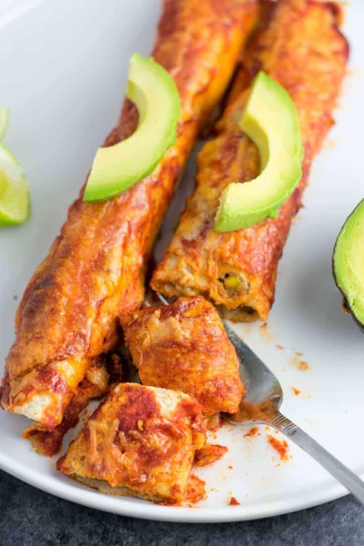 The Best Vegetarian Enchiladas