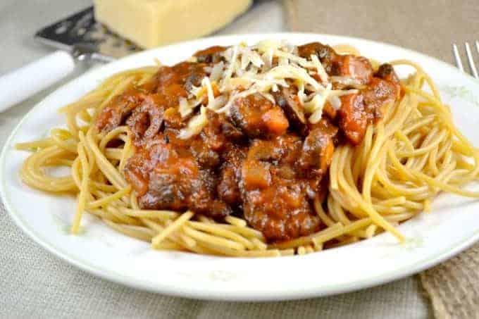 Easy Meatless Spaghetti