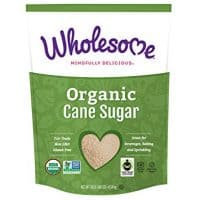 Wholesome Organic Cane Sugar, Fair Trade, Non GMO, 10 LB