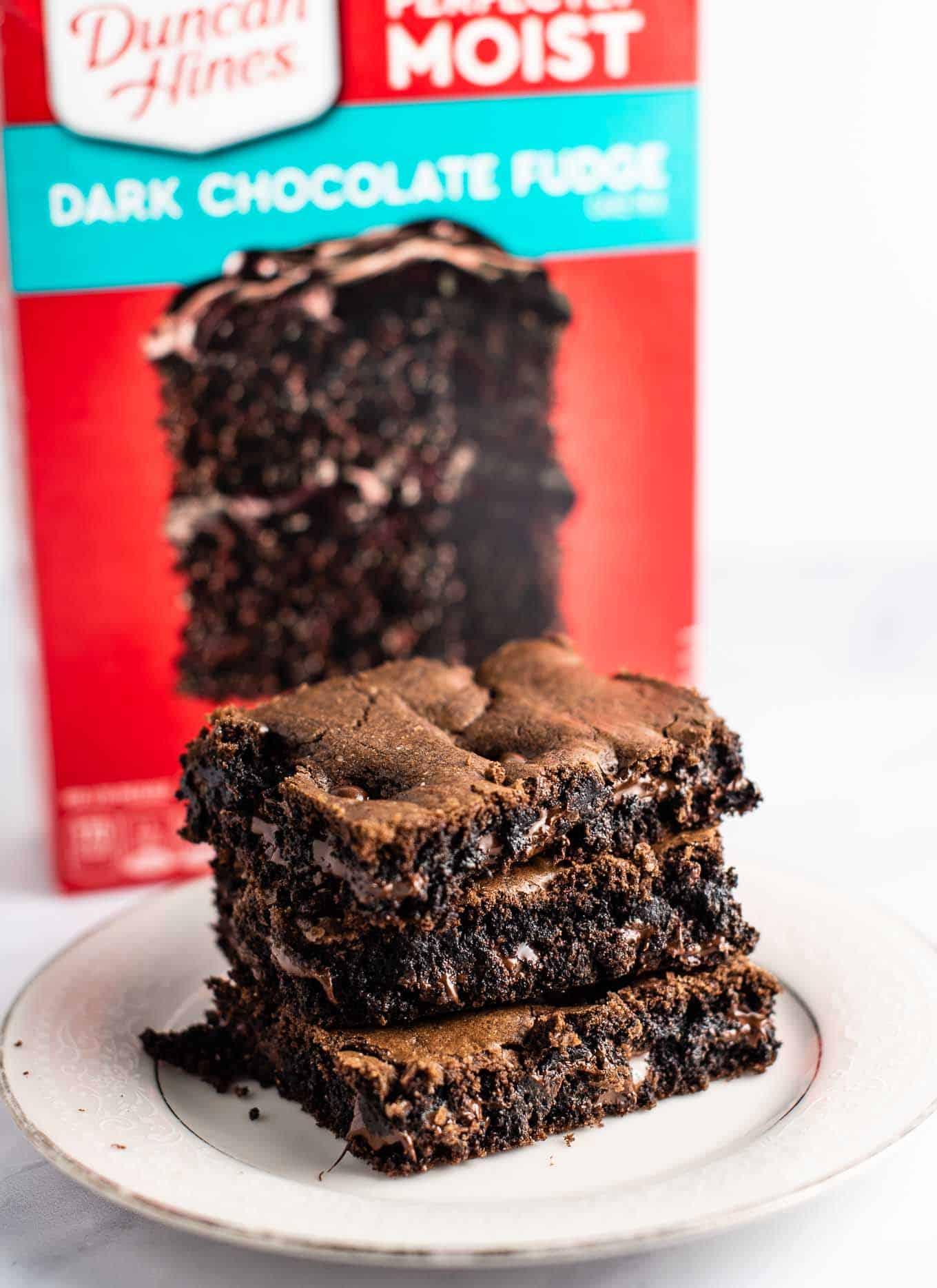 brownies made of cake mix
