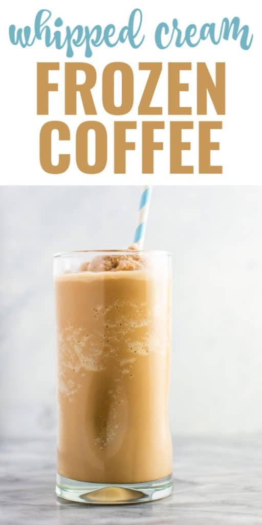 frozen coffee beverage