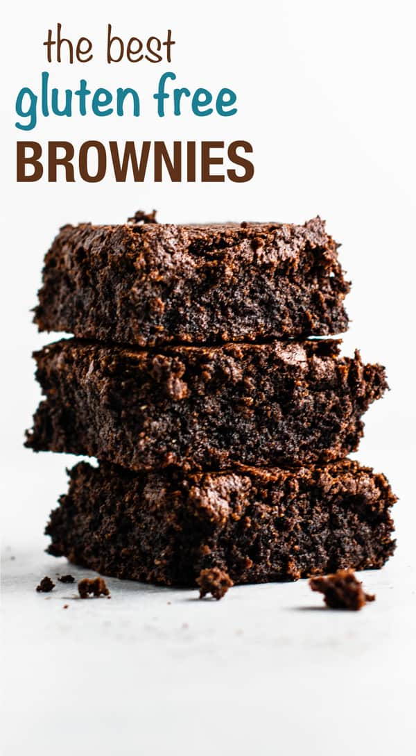Easy gluten free brownies made with oat flour and coconut flour. Dairy free, fudgy, and taste amazing! #glutenfreebrownies #glutenfree #glutenfreedessert #dessert #brownies #oatflour #coconutflour