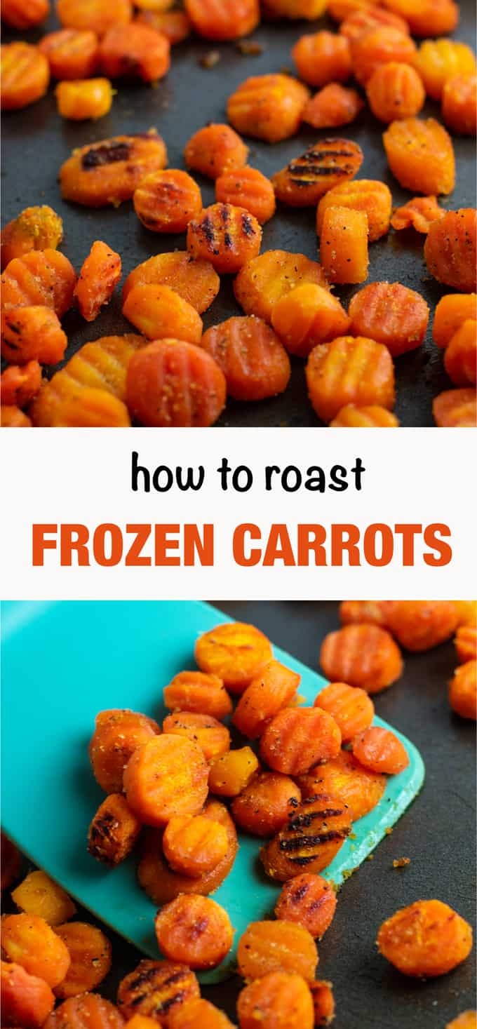 Easy crinkle cut frozen carrots recipe. Perfect super easy veggie side dish for dinner in a hurry! #frozencarrots #crinklecarrots #sidedish #dinner #glutenfree