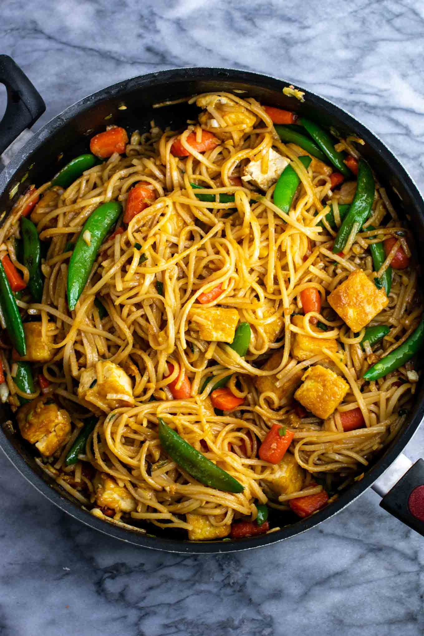 stir fry noodles with homemade stir fry sauce