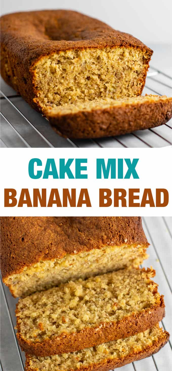 Cake mix banana bread recipe – so easy and so good! #cakemix #bananabread #easyrecipe