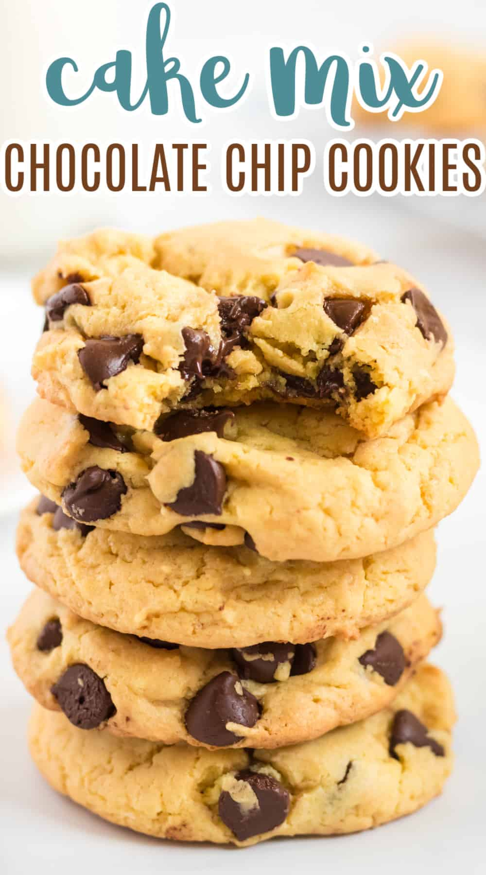"""image with text overlay """"cake mix chocolate chip cookies"""""""