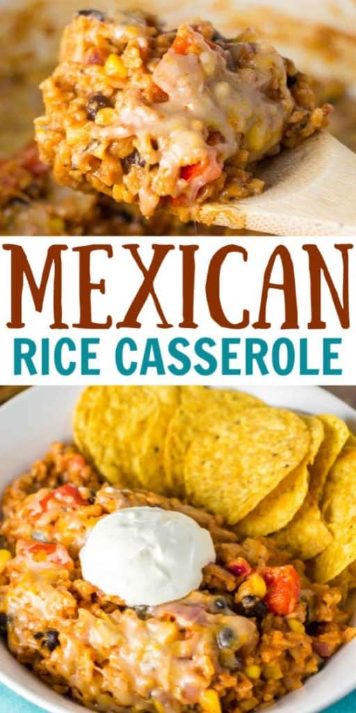 "image with text ""mexican rice casserole"""