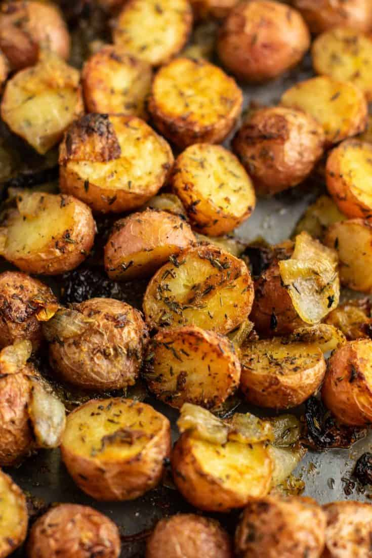 Roasted Potatoes and Onions