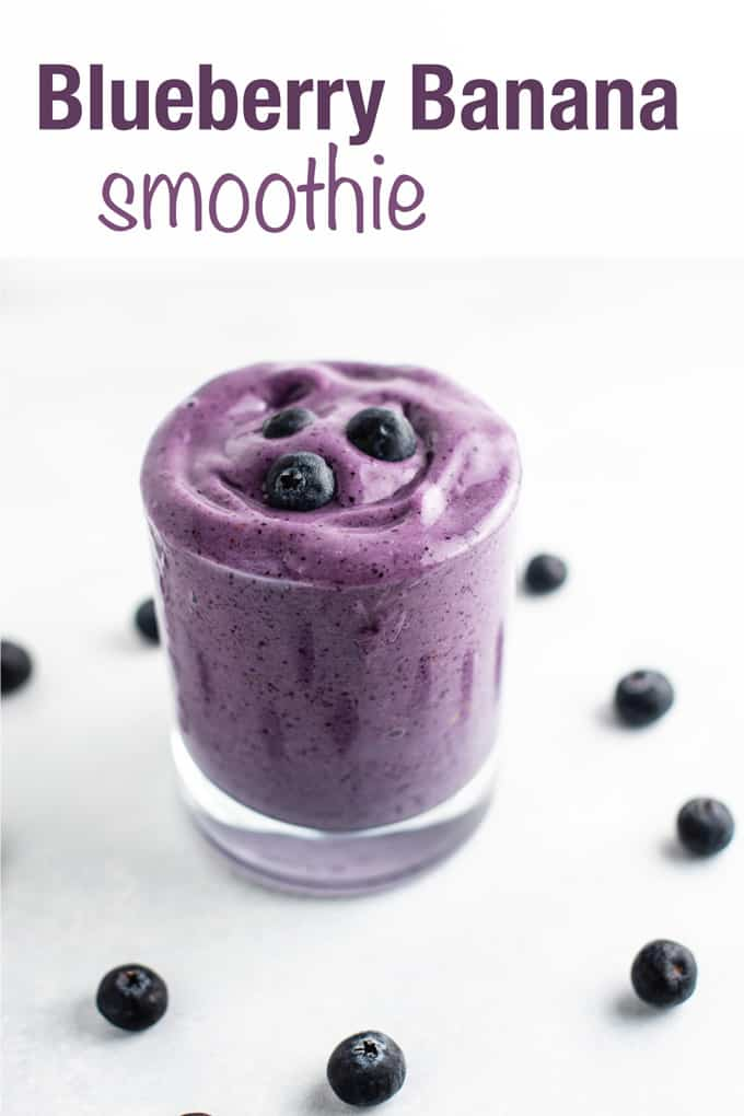 The BEST super thick and creamy blueberry banana smoothie recipe