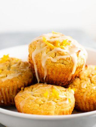 Gluten free muffins recipe with sweet orange glaze