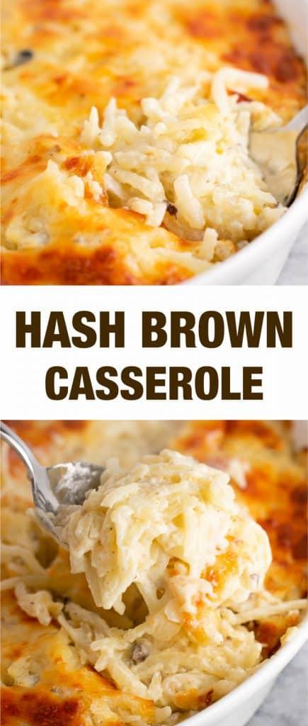 This vegetarian hash brown casserole is the ultimate comfort food! #vegetarian #hashbrown #breakfast #hashbrowncasserole