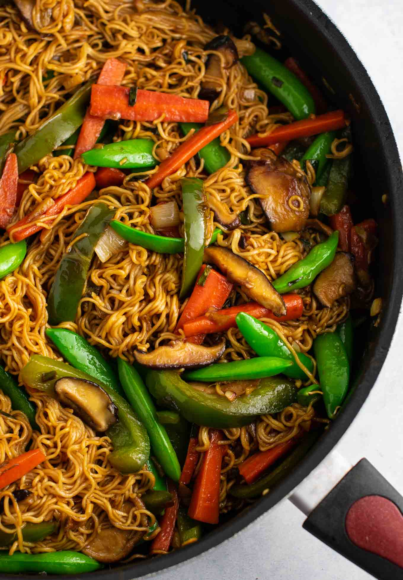 Easy stir fry dinner with ramen noodles