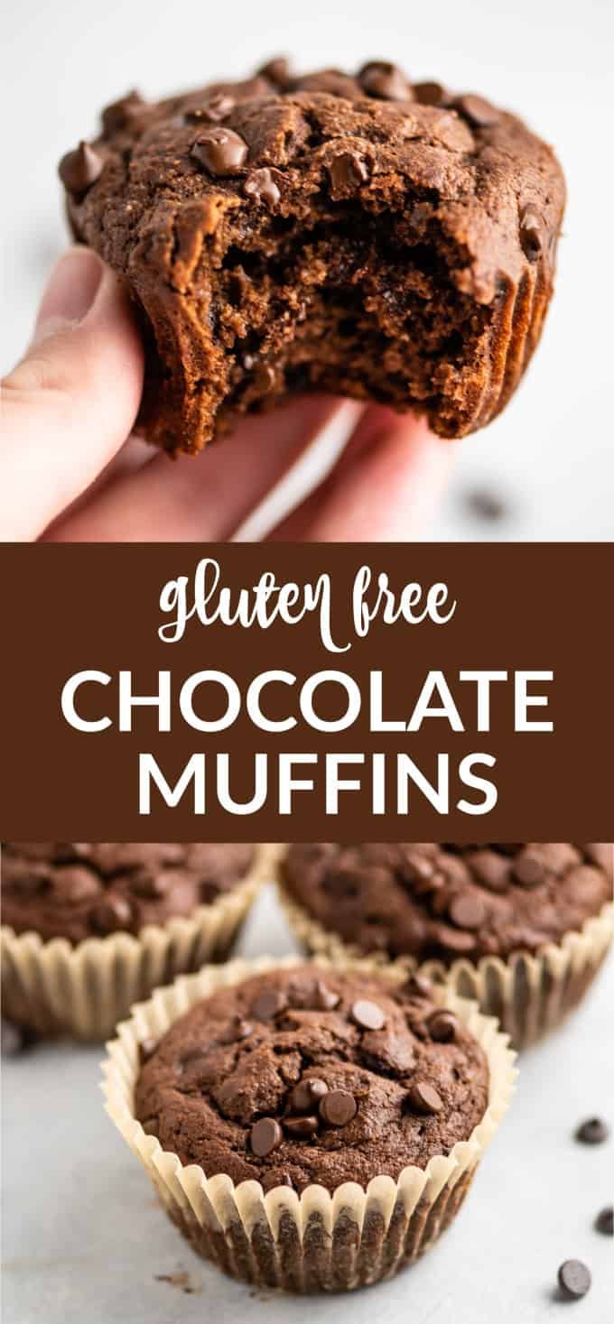 """image with text """"gluten free chocolate muffins"""""""